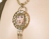 Pendant - Absinthe Devotee Necklace, Green Fairy, Steampunk jewelry, Steampunk pendant, Steampunk necklace, Steampunk, OOAK