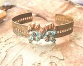 CUff Bracelet - French Bow Cuff, Steampunk, Steampunk Jewelry, Steampunk Bracelet, Steampunk  Cuff,  Victorian Jewelry, Victorian Cuff