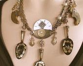 Multi Strand Victorian Statement Necklace - La Belle Epoque, fine jewelry, found object jewelry, art jewelry. Steam punk, off-beat bride