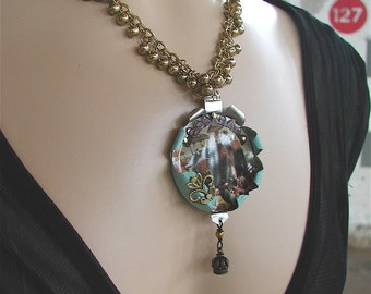 Jewel in the Crown Victorian Necklace, Victorian Jewelry,OOAK  Necklace, OOAK Jewelry