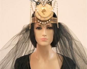 Steampunk Head Piece, Layaway available, Bridal Crown, Steampunk Tiara, Bridal Tiara, Steampunk Crown, Fine jewelry