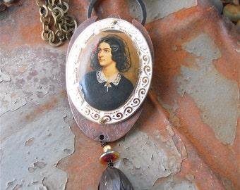 Victorian Necklace - La Tulipe Noire, Victorian Jewelry, Victorian Gothic, Portrait Necklace, Gothic Jewelry, Gothic Necklace, Bride