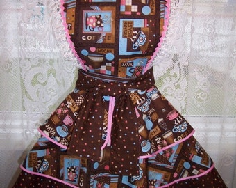CLEARANCE  My Carrie Java Juice Coffee Shop Bombshell Apron Ready to Ship