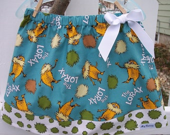 My Carrie Girl's Custom A-Line Skirt made wtih Dr. Suess's The Lorax Fabric