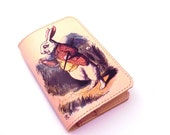 Passport Cover Leather - Alice in Wonderland.