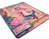 Leather Mouse Pad - Little Red Riding Hood.