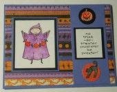 Halloween Card Goblin Kid Cute