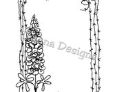 Jam'n Frame with Bluebonnet cling mounted rubber stamp