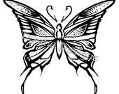 Butterfly (small) cling mounted rubber stamp