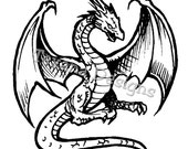 Dragon (large)     Cling Mount Rubber Stamp