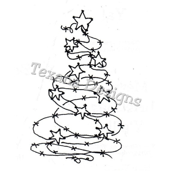 jam u0026 39 n barbed wire tree large cling mounted rubber by texanadesigns