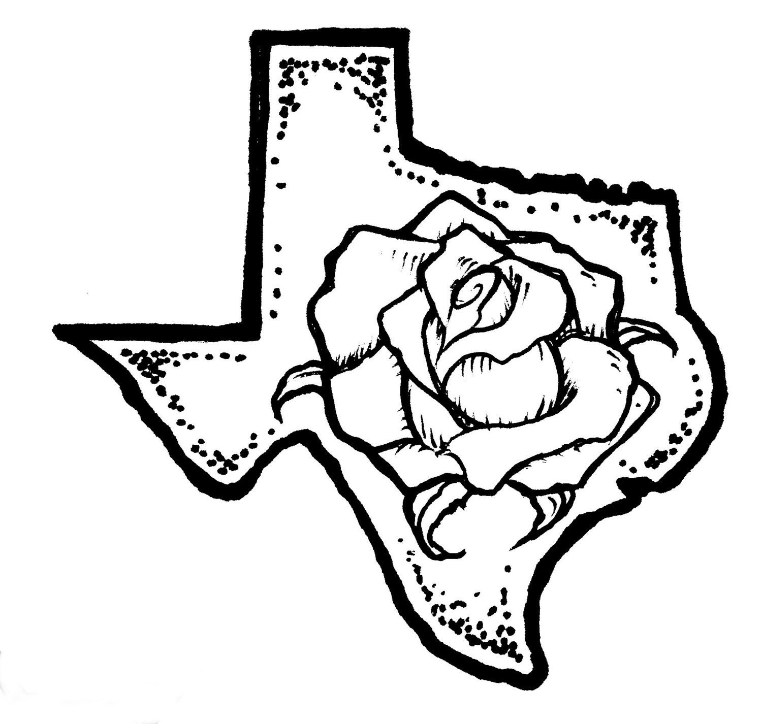yellow rose coloring pages - photo #3