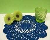 Small Open Marigold Doily - Royal Blue