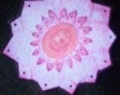 pink and orange lotus stickers, set of 5