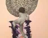 Heaven Ladder or My Spine, An Original Collage