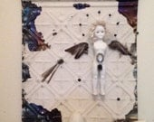The Egg Girl, An Original Assemblage Collage
