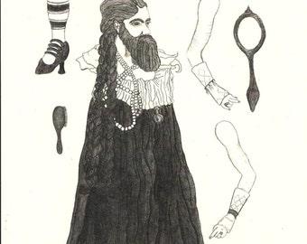 The Bearded Lady, Print