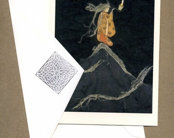 The Hermit, from Tarot, individual greeting card, second printing