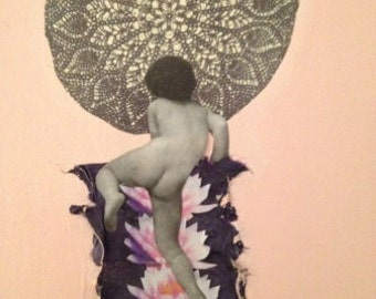 Heaven Ladder or My Spine, An Original Collage