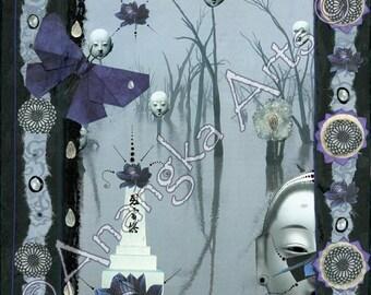 Edge of Midnight, 10 x 10 Fine Art Print