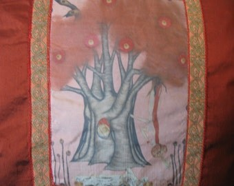 Pillow Featuring The Hanged Woman from Tarot