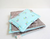 SALE Doll bed Linen Set eco friendly upcycled, vintage baby blue bubynoa Best Friend