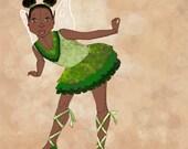 CUSTOM for Rhonda ... Valerienne Rose greens PRINT