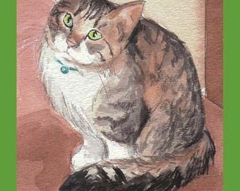 Cat Lover's Birthday Card.