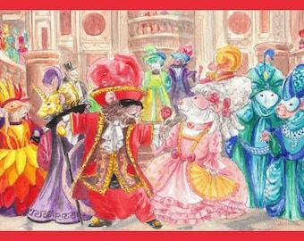 Masquerade Ball Card