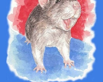 Laughing Rat Birthday card