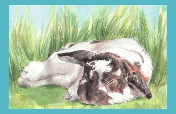 Sleepy Bunny Card