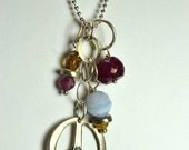 """Peace Charm Necklace Number 31 18"""""""