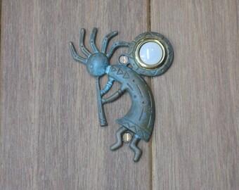 Verdigris Kokopelli Doorbell