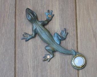 Verdigris Lizard Doorbell