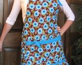 Retro Daisy ADULT Ruffled Chef apron