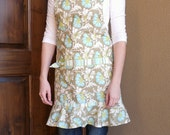 NEW Sweet Jasmine by Amy Butler ADULT Ruffled Chef apron
