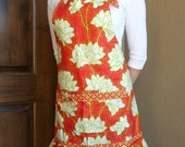 NEW Heather Bailey Pop Garden YOUTH (6-10 years) Ruffled Chef apron