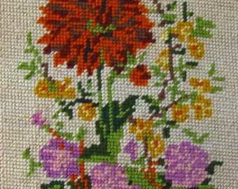Wall Decoration Embroidery of beautiful flowers