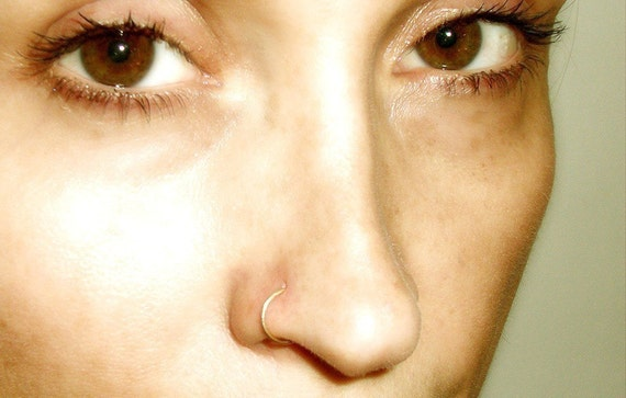 14K Yellow Gold Filled Nose Ring / Free US Shipping
