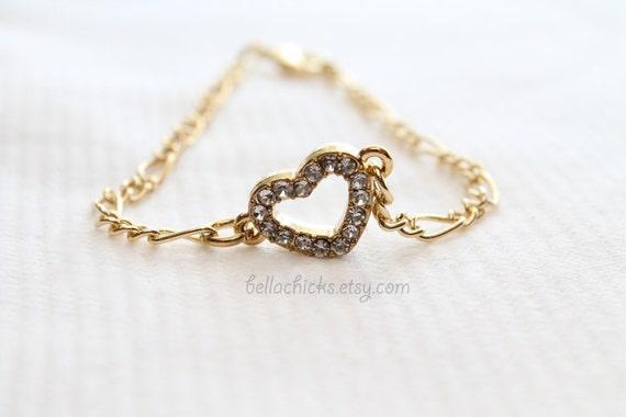 Dainty Heart charm bracelet