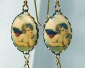 Raphaels Cherub Earrings Wear the Sistine Chapel in Your Ears Angels Nickelfree