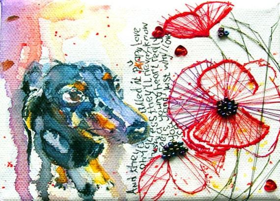 Donny Osmond Dachshund Postcard. Mimiloveforever
