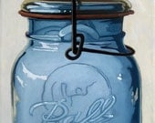 OLD BALL JAR - realistic still life print from my original oil painting