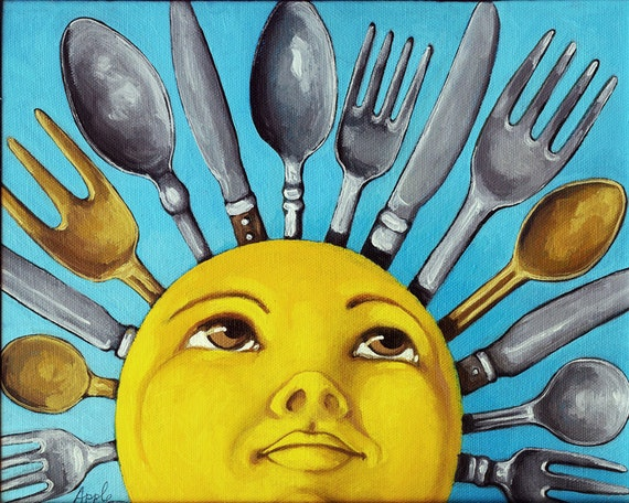 SUN Art - Afternoon Delight  print from original oil painting, shown on CBS Sunday Morning Show