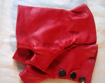 RED Gloves with 3 metal gun snaps