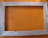 11x17 Barn wood siding frame - light silver weathered grey