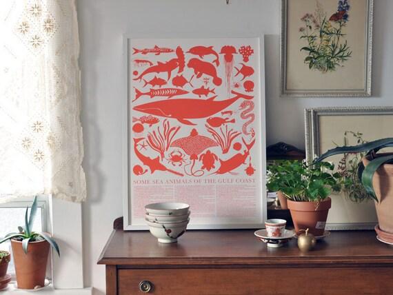 Large Print - Sea Animals of the Gulf Coast