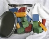 30 piece gallon of painted wood blocks