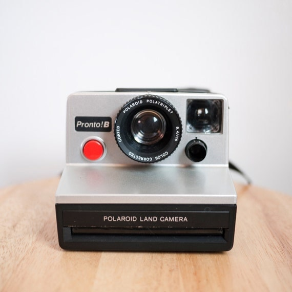 RESERVED for WonderstruckJ: Vintage Metallic Grey Polaroid Pronto B Land Camera (Battery Tested)