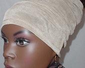 Natural Hair Accessories-HeadBand-HeadTube-Khaki Tan